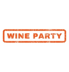 Wine party rubber stamp vector
