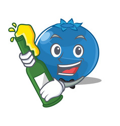With beer blueberry character cartoon style vector