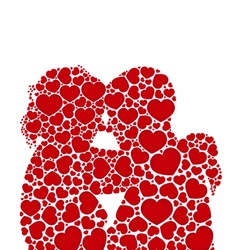Lheart love silhouette couples concept vector