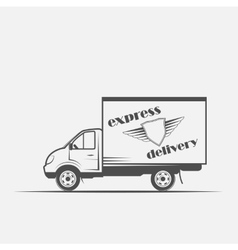 Express delivery freight car vector