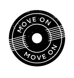 Move On rubber stamp vector image