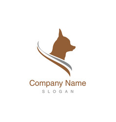 Chihuahua dog logo vector