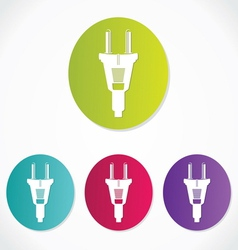 Power plug - cord icon vector