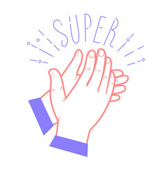 icon clapping hands vector image