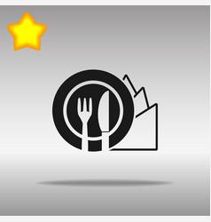 Diet black icon button logo symbol vector