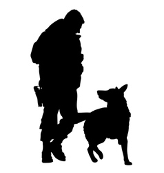 Police dog silhouette 5 vector