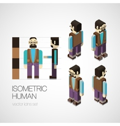 Isometric human set vector
