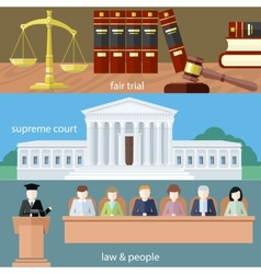 Fair trial supreme court law and people vector