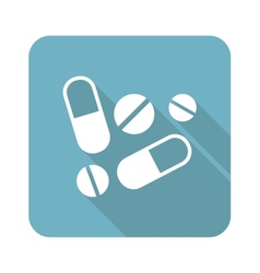 Drug icon vector