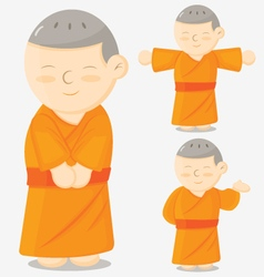 Monk cartoon vector