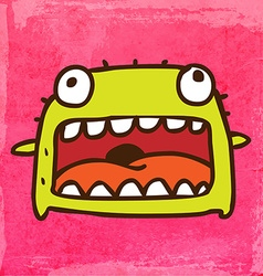 Smiling monster cartoon vector