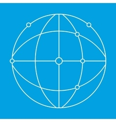 Network thin lines icon vector