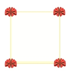 Clean sheet decorated bow vector image