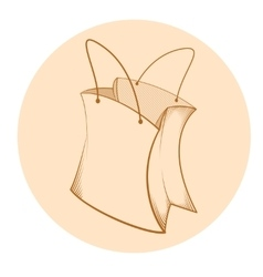 Sketch of paper bag vector