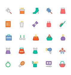 Fashion Colored Icons 6 vector image