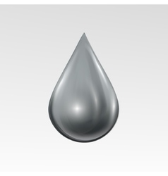 Waterdrop on light gray background water bubble vector