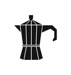 Steel retro coffee pot icon simple style vector