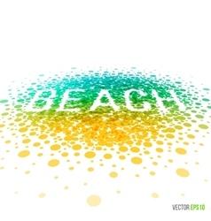 Summer beach beautiful design for greeting card vector