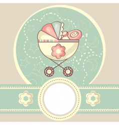 abstract baby background vector image