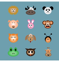 Animal face icon vector image