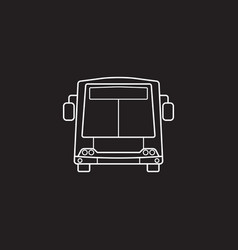 Bus icon public transport symbol graphics vector