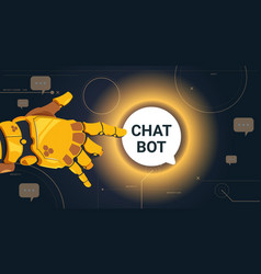 Chatter service app concept robot hand touch chat vector