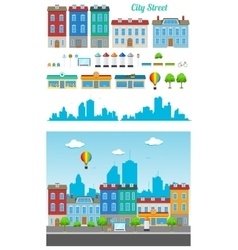 City street set vector