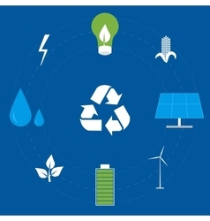 Clean energy icon set vector