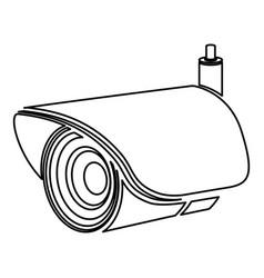 Figure exterior video camera icon vector