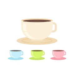 Flat coffee cup in cartoon style isolated vector image vector image