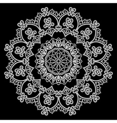 lace round 13 380 vector image vector image
