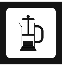 Manual juicer icon simple style vector