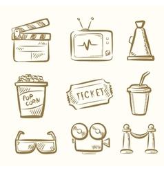 Movie icon set vector image vector image