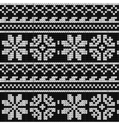 Norwegian star knitting pattern vector image
