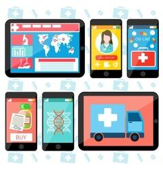 Online medical services vector