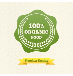 Organic Food Label vector image vector image