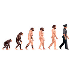 police evolution on white background vector image vector image