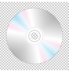 Realistic cd-disk backside vector image vector image