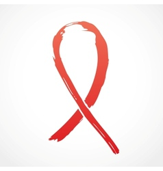 Red grunge support ribbon vector
