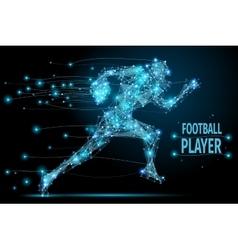 Running footballer polygonal vector image vector image