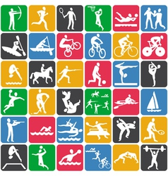 seamless pattern with olympic sport icons vector image vector image