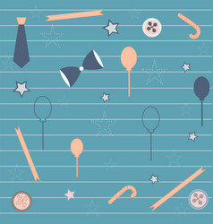 Seamless repeating pattern with bow balloons vector