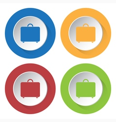 set of four icons - suitcase vector image