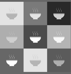 soup sign grayscale version of popart vector image vector image