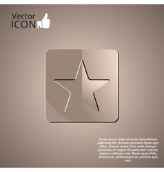Star Button on the Background vector image vector image