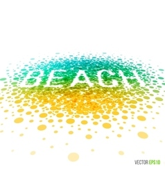 Summer beach beautiful design for greeting card vector image vector image