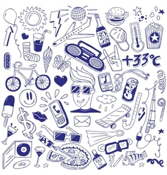 Summer - doodles collection vector