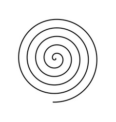 thin black spiral symbol simple flat vector image