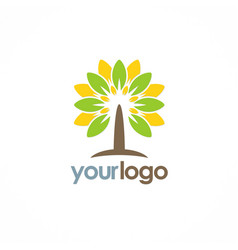 tree eco nature logo vector image