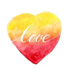 Watercolor heart for greeting card vector image vector image